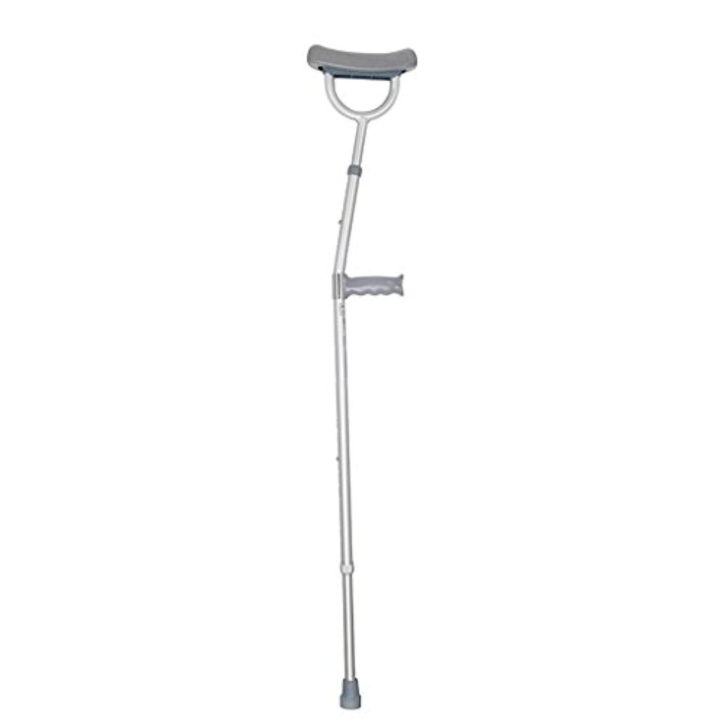 縮れた港気になる医療用アルミニウム製の脇の下の松葉杖調節可能なアンチスキッドウォーカー、グレー、約80KGのサポート重量