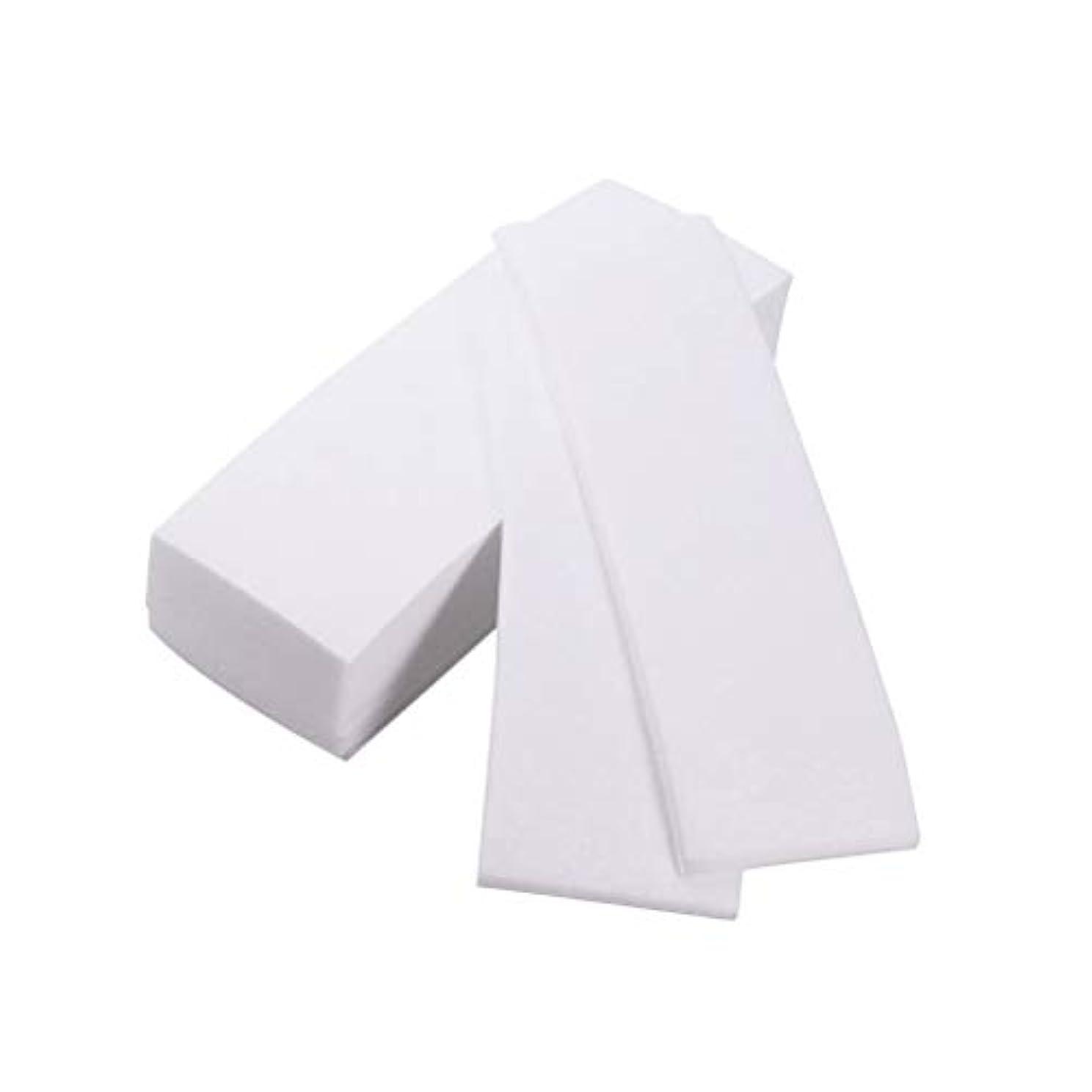 Healifty ヘアリムーバーツール300ピースプロフェッショナルフェイシャルボディ脱毛ワックスストリップ紙脱毛不織布脱毛器