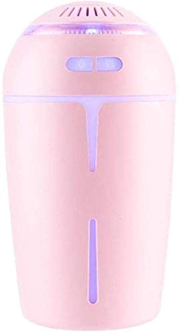 フェリータイヤ縫うSOTCE アロマディフューザー加湿器超音波霧化技術快適な雰囲気満足のいく解決策卓上デコレーションソフト変色 (Color : Pink)