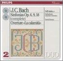 J.C.Bach: Sinfonias Op.6,9,18