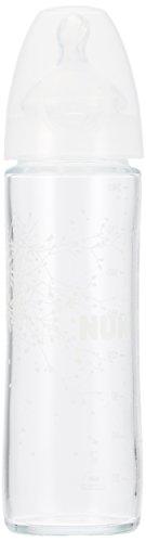 ヌーク NUK プレミアムチョイススリムほ乳びん ガラス製 シリコーン/ホワイト 240ml 0ヵ月から イヤがらずに飲める おっぱいに近いほ乳びん 【ドイツ製】 FDNK03102143