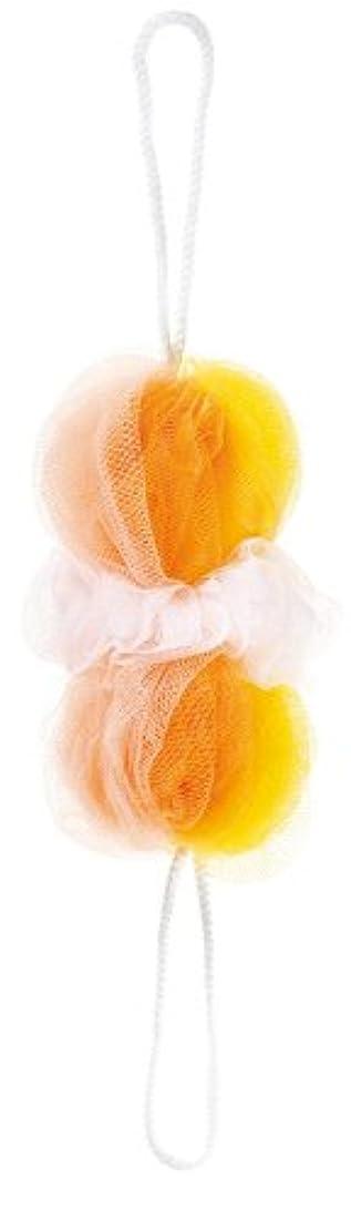 拮抗するフェンス倍率マーナ ボディースポンジ 「背中も洗えるシャボンボール」 ミックス イエロー B873Y