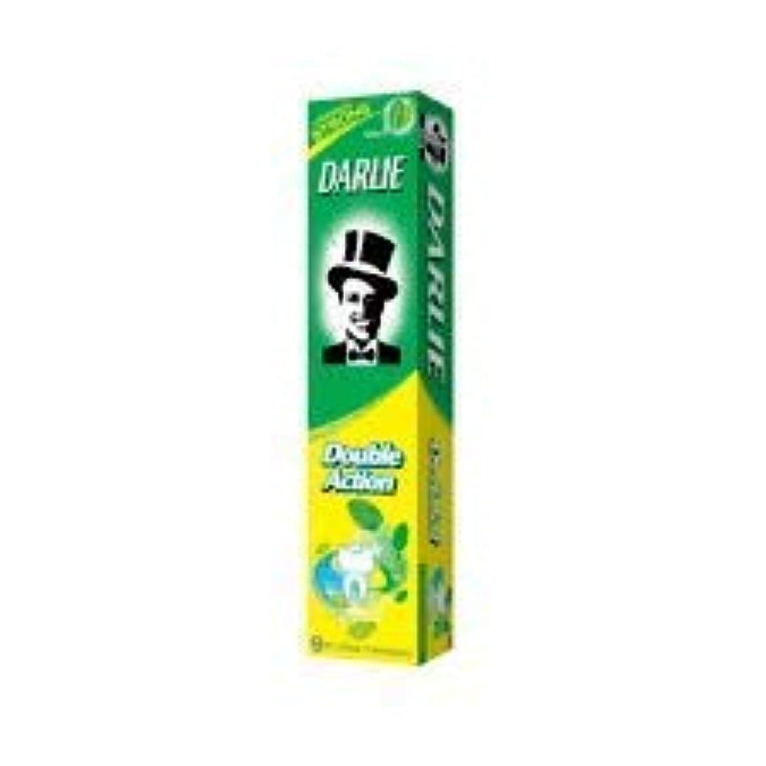 知る虚栄心気付くDARLIE ナチュラルミント百グラムの黒歯磨き粉歯磨き粉二重の役割は - 歯を強化し、虫歯を防ぐためにフッ化物を追加します