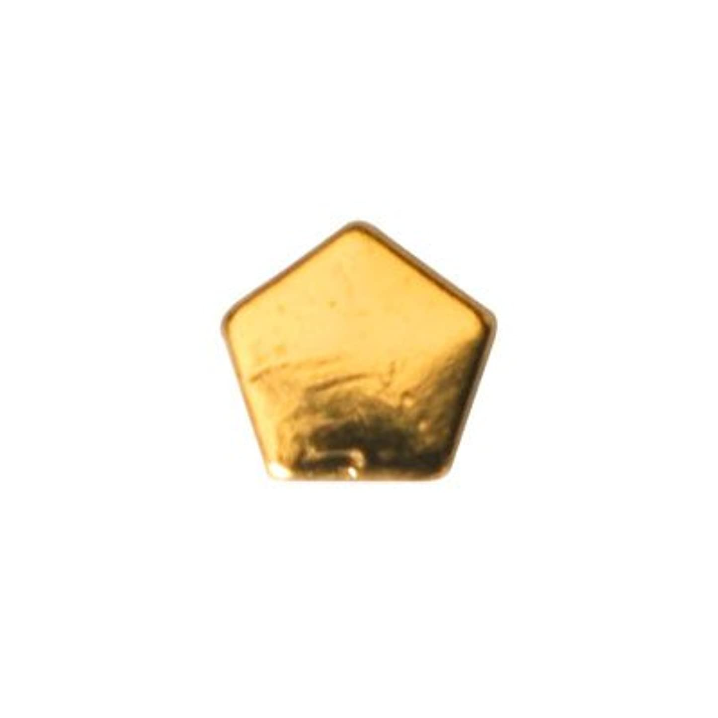 恥ずかしいソート統合ピアドラ スタッズ ペンタゴン 3mm 50P ゴールド