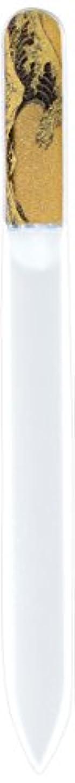 シュート心理学裁量橋本漆芸 ブラジェク製高級爪ヤスリ 特殊プリント加工 波裏 OPP