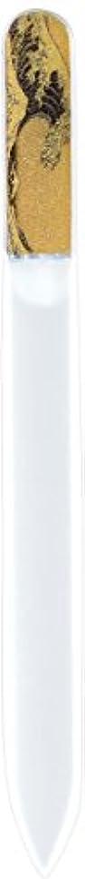 ゴミ第オン橋本漆芸 ブラジェク製高級爪ヤスリ 特殊プリント加工 波裏 OPP