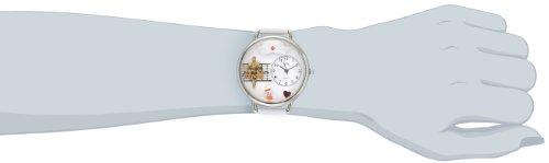 高看(看護師) 白レザー シルバーフレーム時計 #U0620008