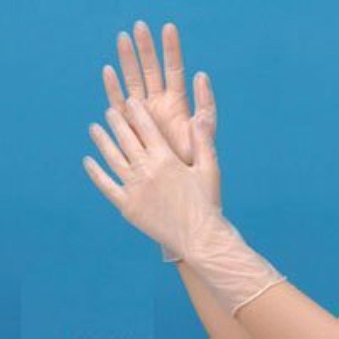 テメリティプロフェッショナル解決プラスチック手袋ハイクリーン(パウダーフリー)M 100枚【食品対応】