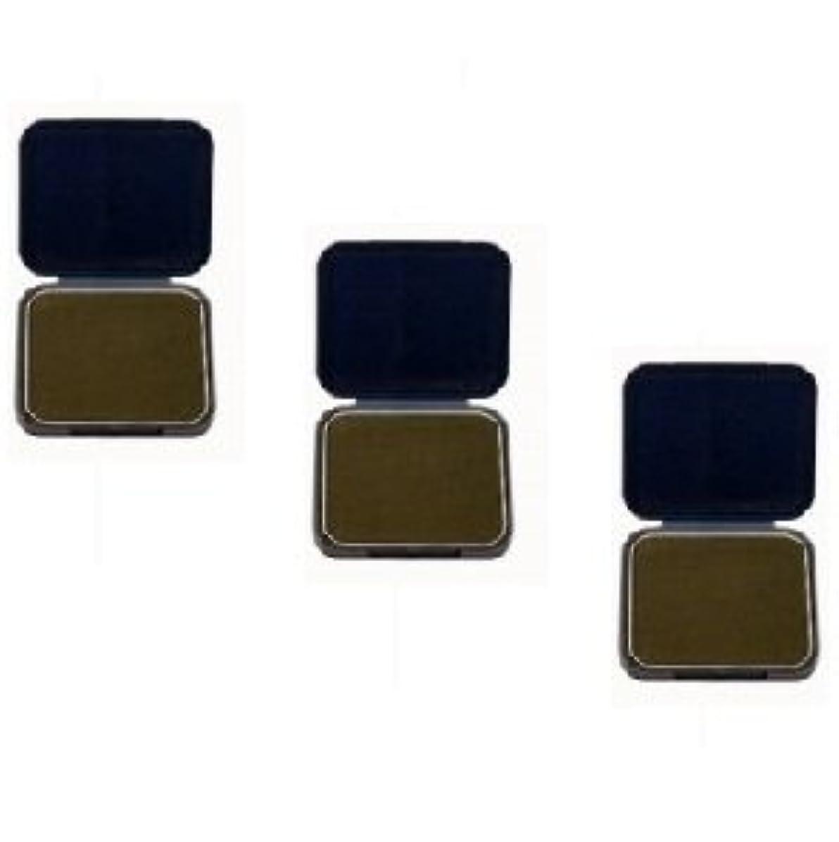 電圧王室フォーマット【3個セット】 アモロス 黒彩 ヘアファンデーション 13g 栗 詰替え用レフィル