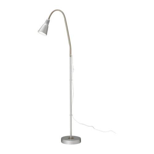 KVART フロア/読書ランプ ワークランプ シルバー 50120712 組立式 イケア IKEA