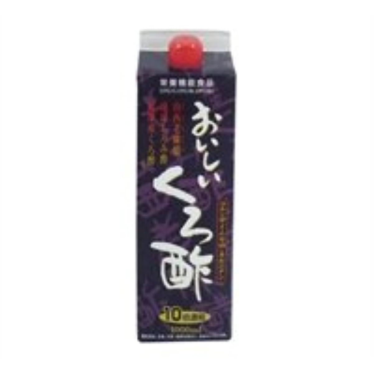 ビル大声で電池フジスコ おいしいくろ酢 1L