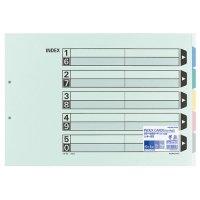 コクヨ カラー仕切カード(ファイル用・5山見出し) A3ヨコ 2穴 5色+扉紙 1パック(10組)