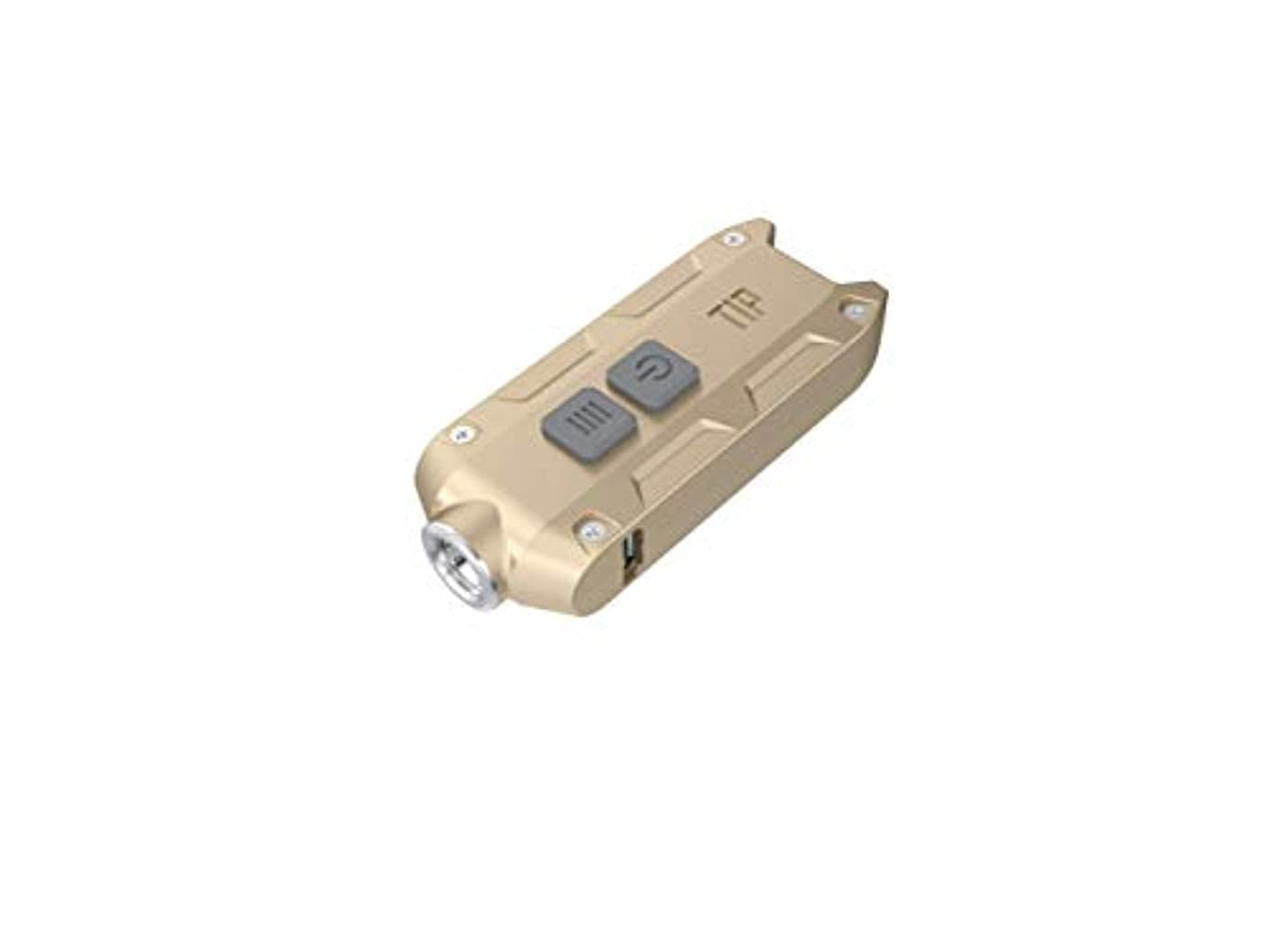 星コーラスグローブnitecore金属usb充電式を内蔵リチウムイオン充電池キーホルダー燈tip小さく軽いアウトドア日常携帯キャンプ徒歩夜釣りに乗ってマイカー旅行を身につけて照明(金色)