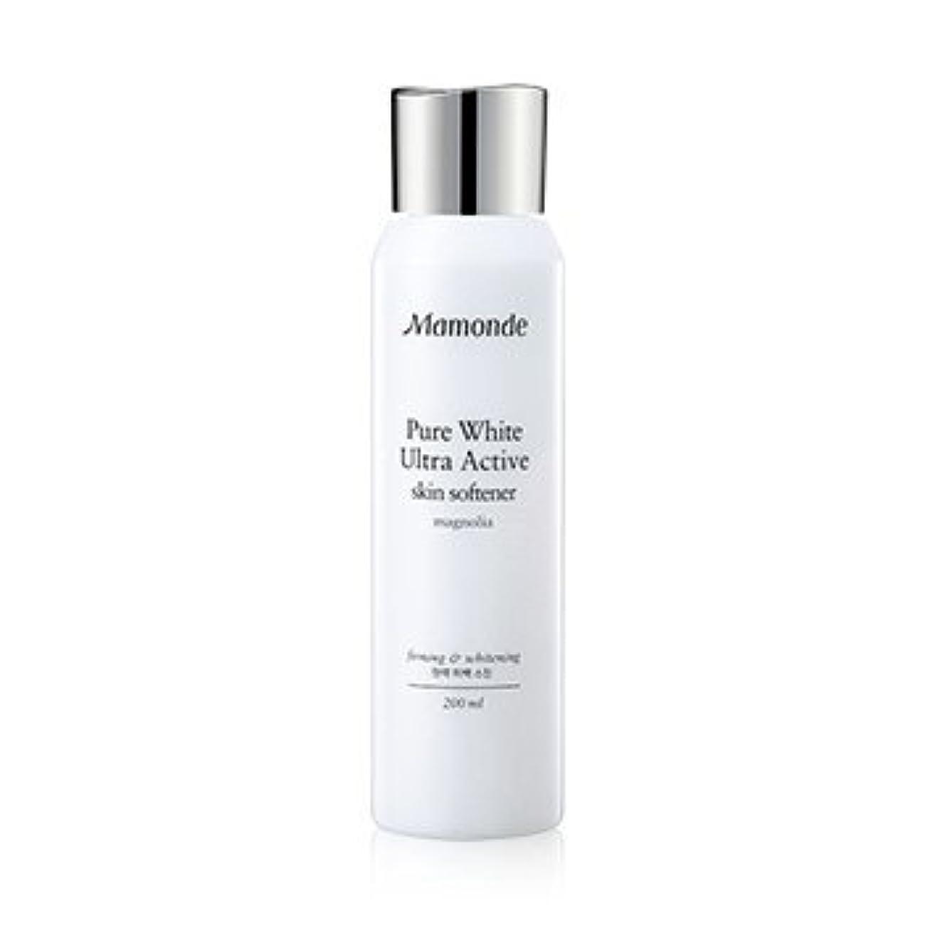 スローガン素子国内のMamonde Pure White Ultra Active Skin Softener 200ml/マモンド ピュア ホワイト ウルトラ アクティブ スキン ソフナー 200ml [並行輸入品]