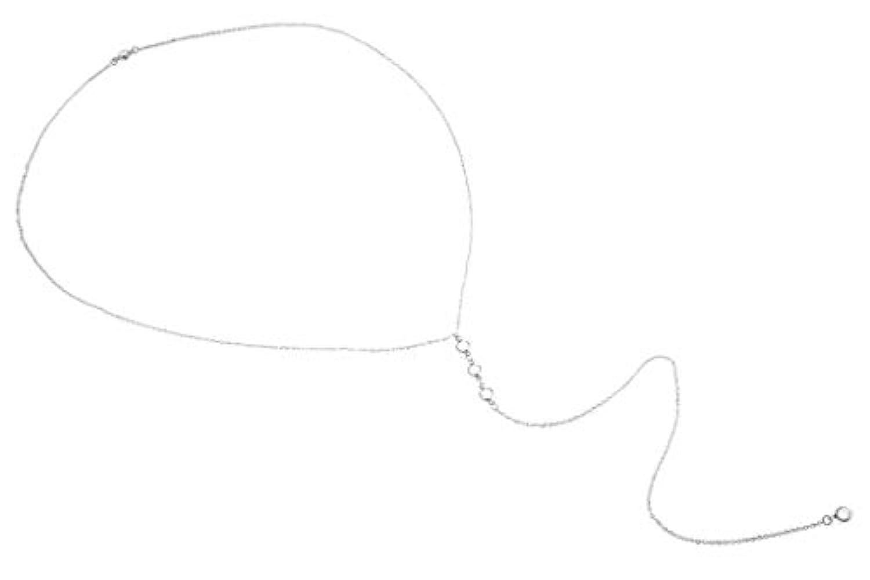 Plus Nao(プラスナオ) ネックレス ペンダント レディース バックチェーン ラインストーン キラキラ シンプル おしゃれ きれいめ 上品 可愛