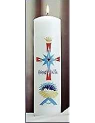 Emkay Candles 180107 Candle-Christ Candle Pillar Nativity, 11 x 3 in.