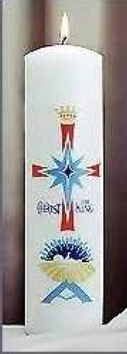 勝利したなぜ空港Emkay Candles 180107 Candle-Christ Candle Pillar Nativity, 11 x 3 in.