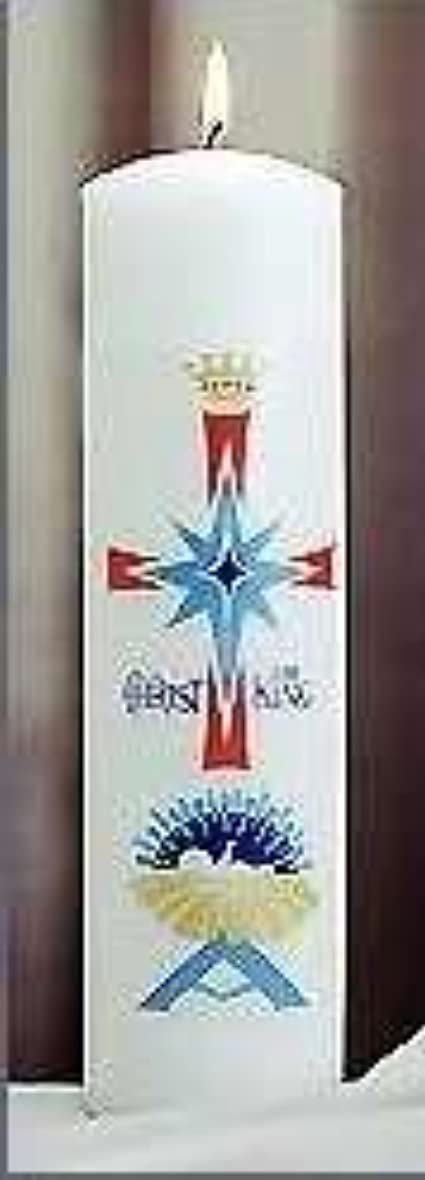 柔らかさミュートマカダムEmkay Candles 180107 Candle-Christ Candle Pillar Nativity, 11 x 3 in.