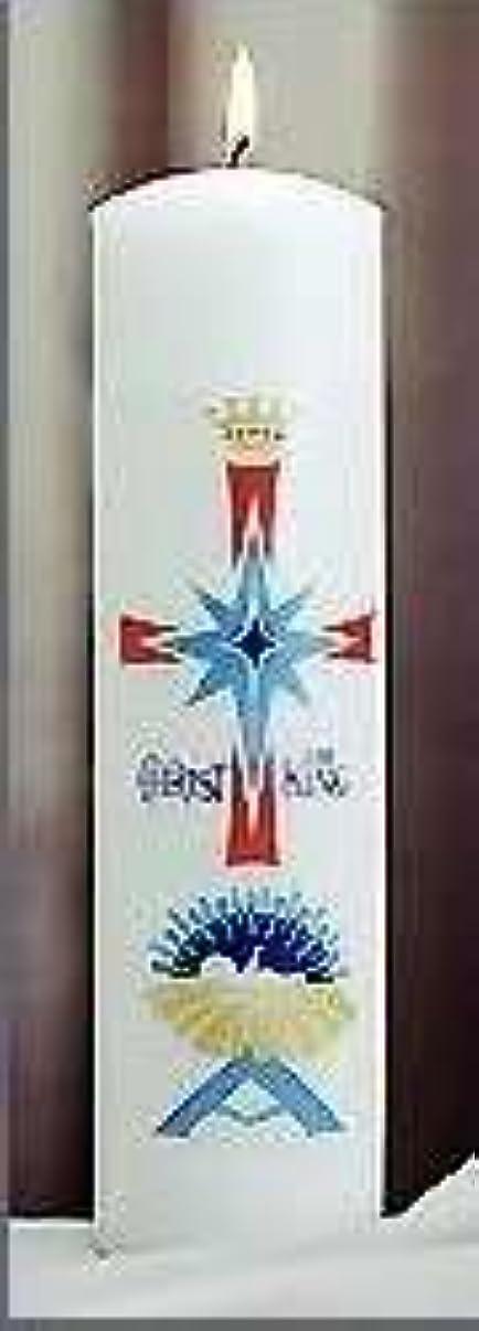 建築雪だるま努力するEmkay Candles 180107 Candle-Christ Candle Pillar Nativity, 11 x 3 in.