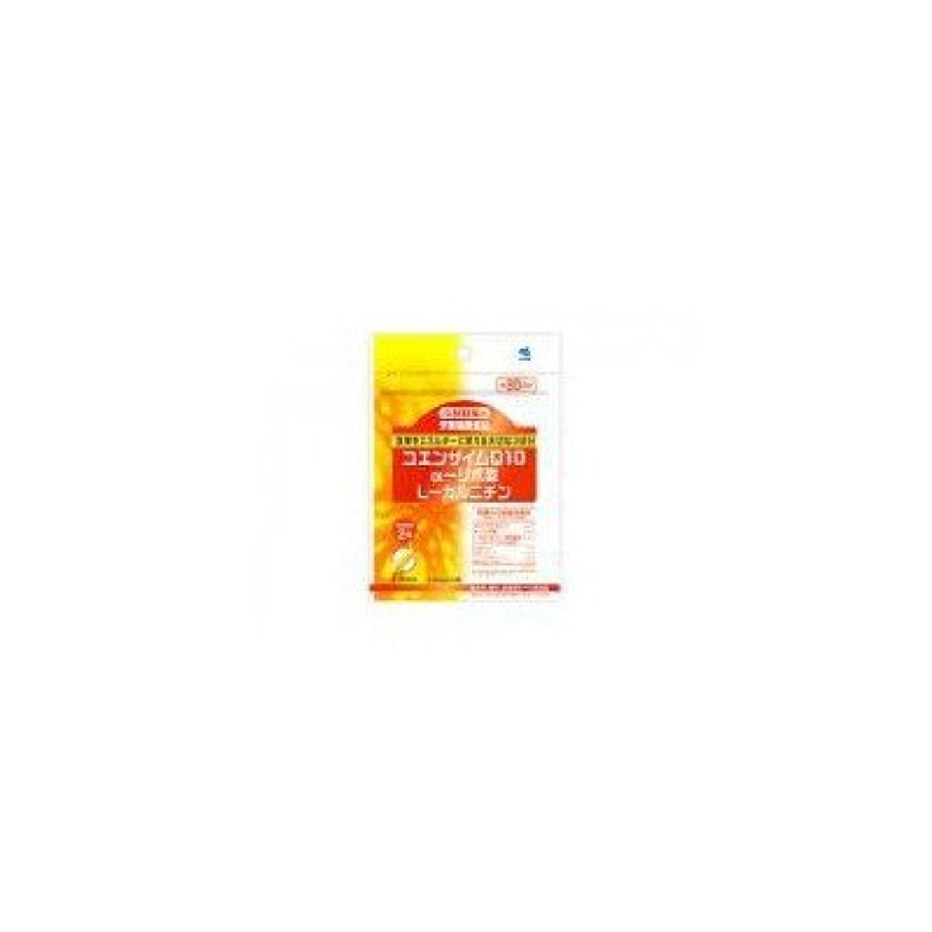 後継カーフシンボル小林製薬の栄養補助食品 コエンザイムQ10+αリポ酸+Lカルニチン(60粒 約30日分) 4セット