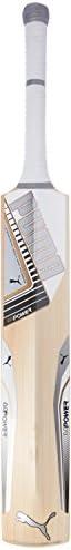 Puma, Cricket, Evopower 4.5 Special Edition English Willow Cricket Bat, Senior, White, Harrow
