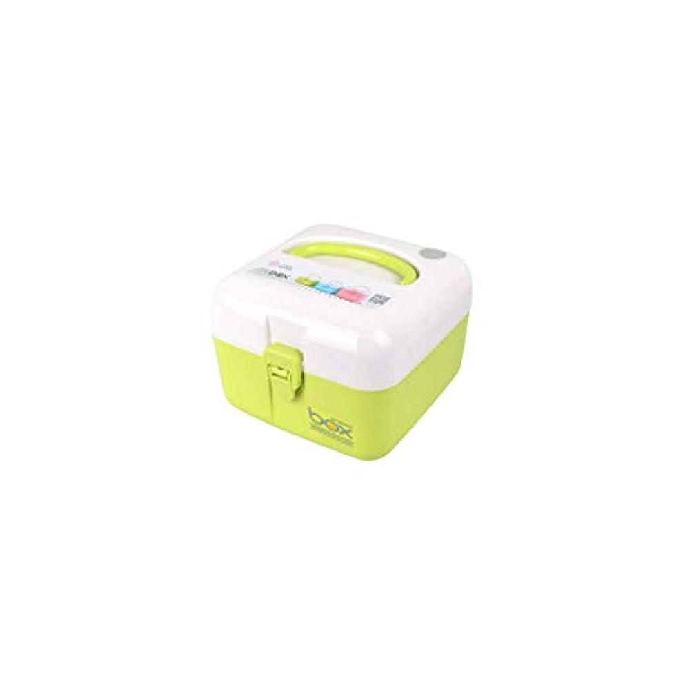 佐賀刑務所本家庭用薬品箱二層医療箱小型大容量薬品収納ボックスマルチカラーマルチサイズオプション GBYGDQ (Color : Green, Size : 16×16×12cm)