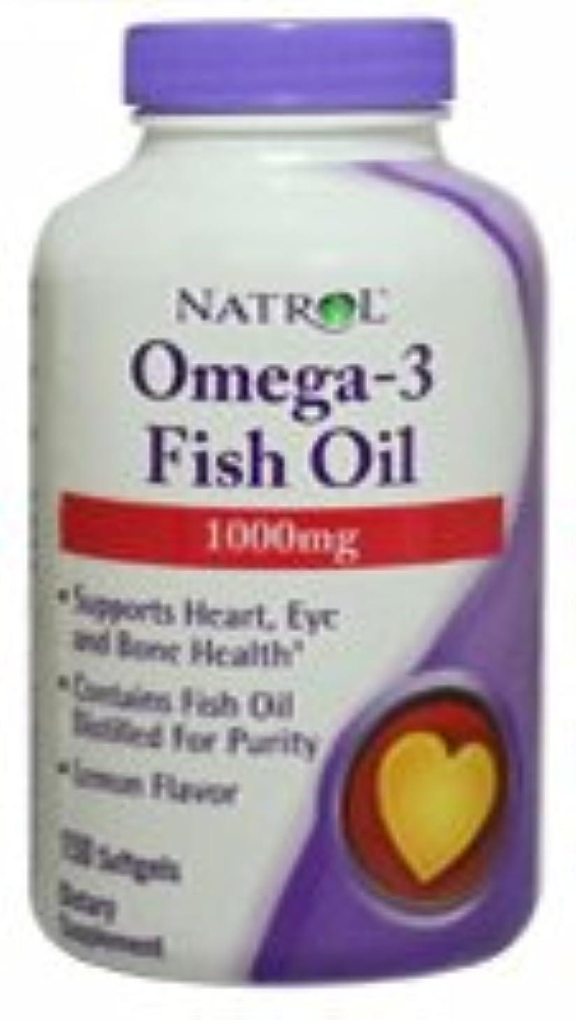 長々と貪欲標高[海外直送品] Natrol オメガ3 フィッシュオイル 1000mg 150粒  レモンフレーバー
