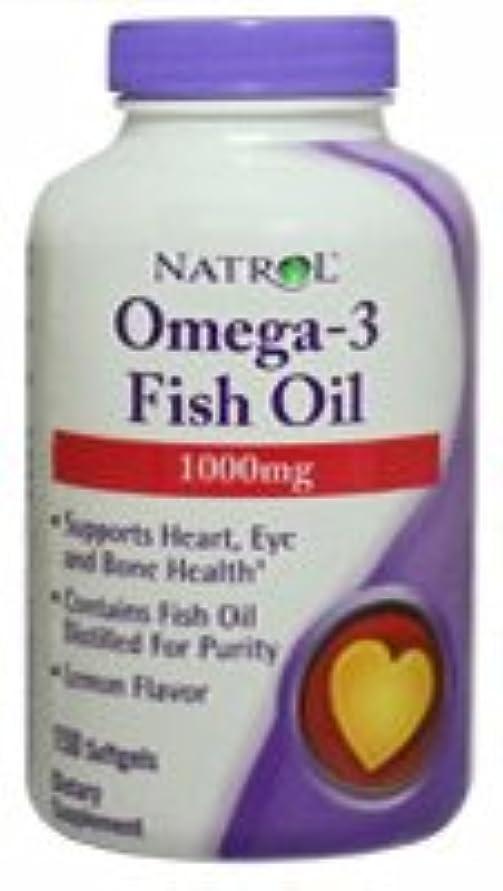 活力毎回悪化する[海外直送品] Natrol オメガ3 フィッシュオイル 1000mg 150粒  レモンフレーバー