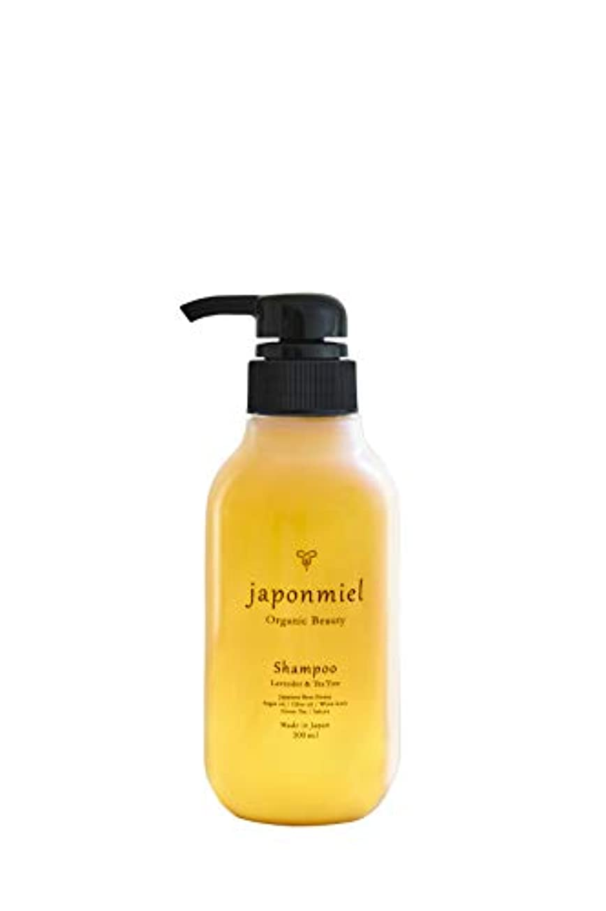 挽く公下向きjaponmielオーガニック はちみつシャンプー300ml 日本はちみつ配合 アミノ酸系ノンシリコン