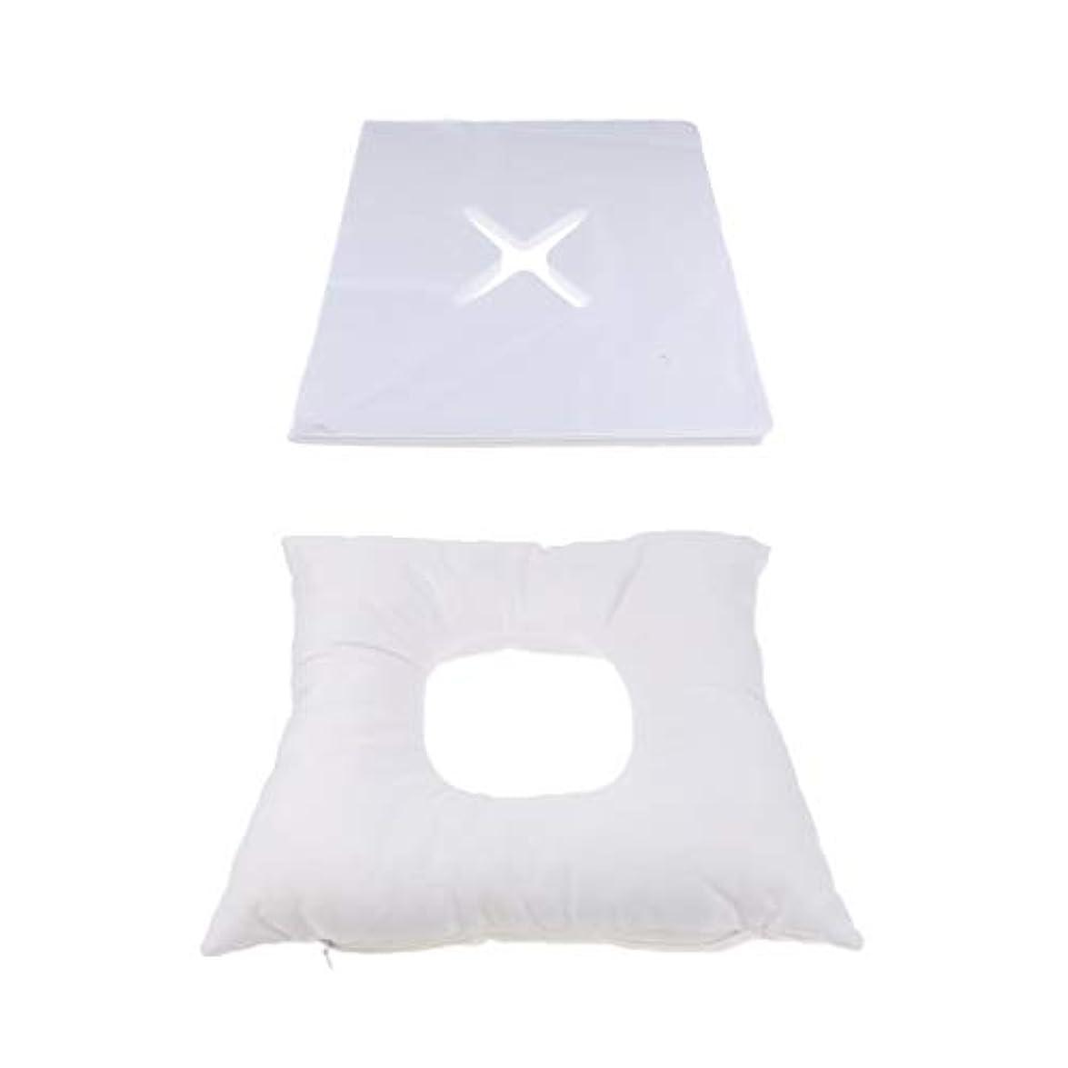 プラスチックスイス人お勧めフェイスマット マッサージ枕 顔枕 エステマクラ 200個使い捨てピローカバー付き サロン 家庭用