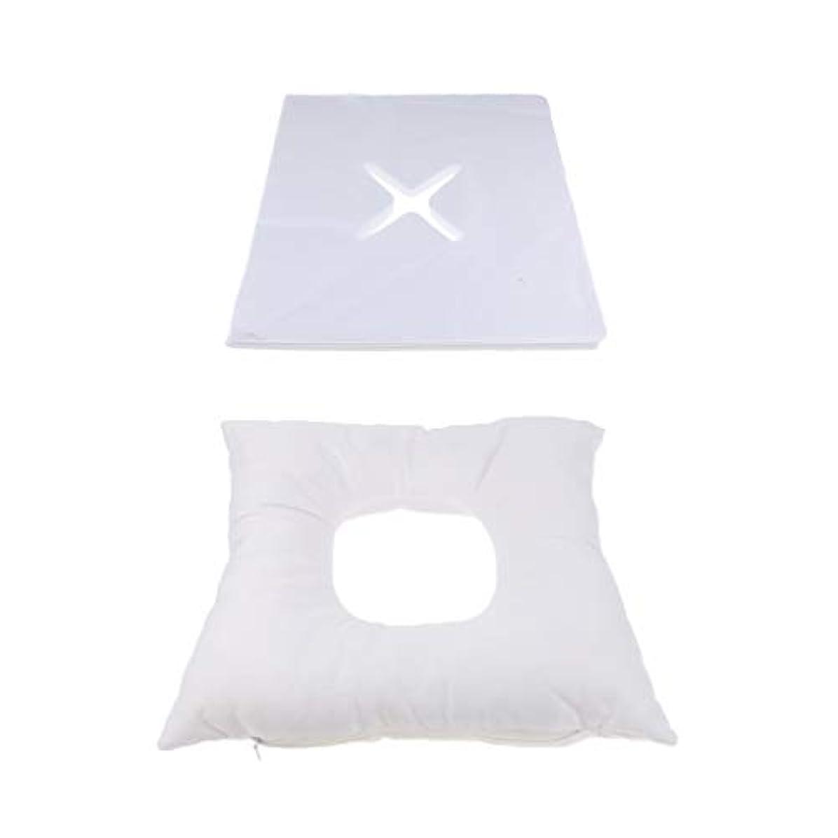明るい落ち着いた航空会社フェイスマット マッサージ枕 顔枕 エステマクラ 200個使い捨てピローカバー付き サロン 家庭用