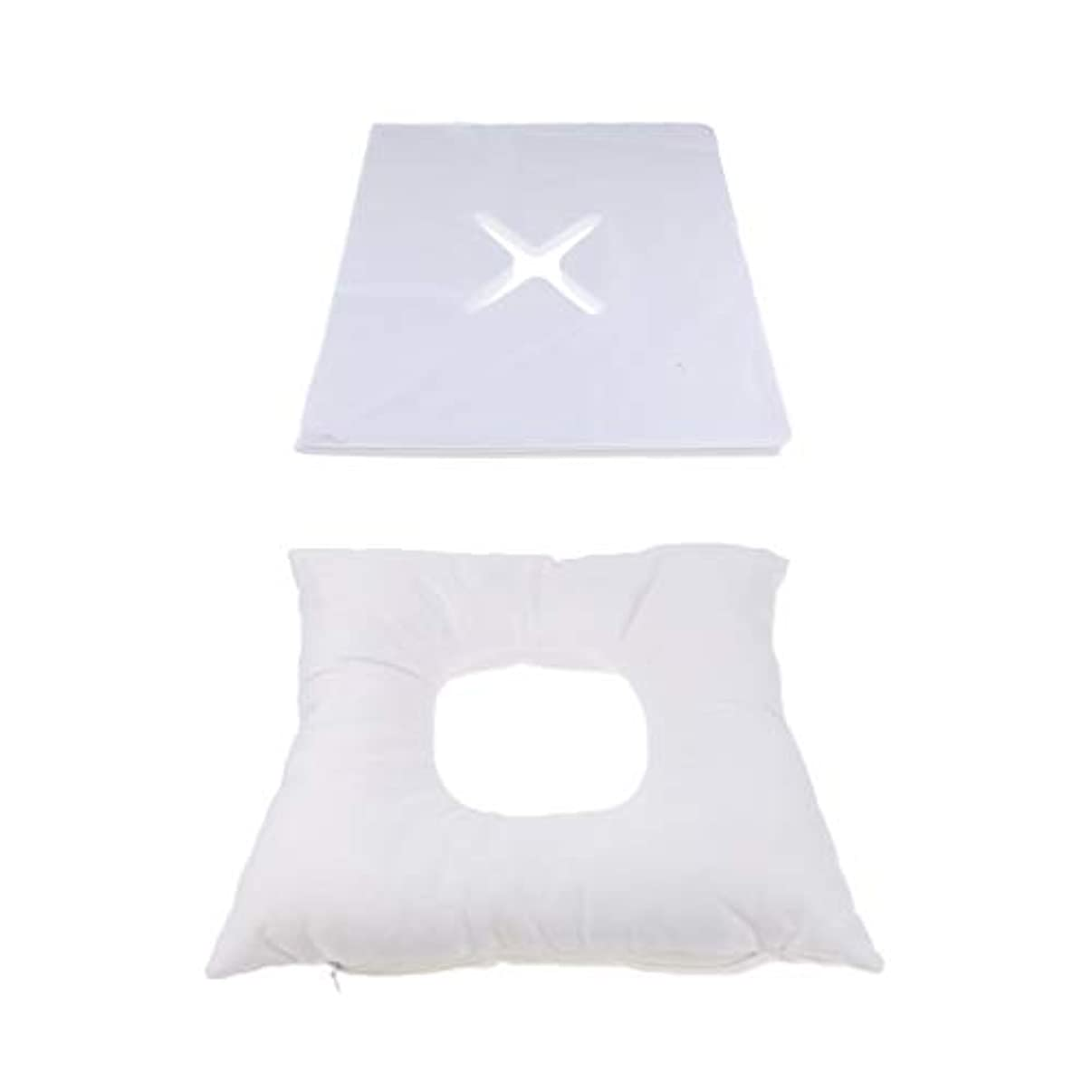一緒にトリッキー視線フェイスマット マッサージ枕 顔枕 エステマクラ 200個使い捨てピローカバー付き サロン 家庭用