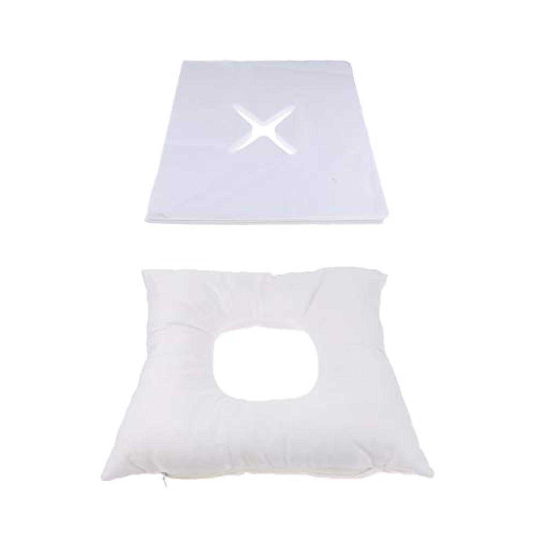 三角形病な同情的フェイスマット マッサージ枕 顔枕 エステマクラ 200個使い捨てピローカバー付き サロン 家庭用