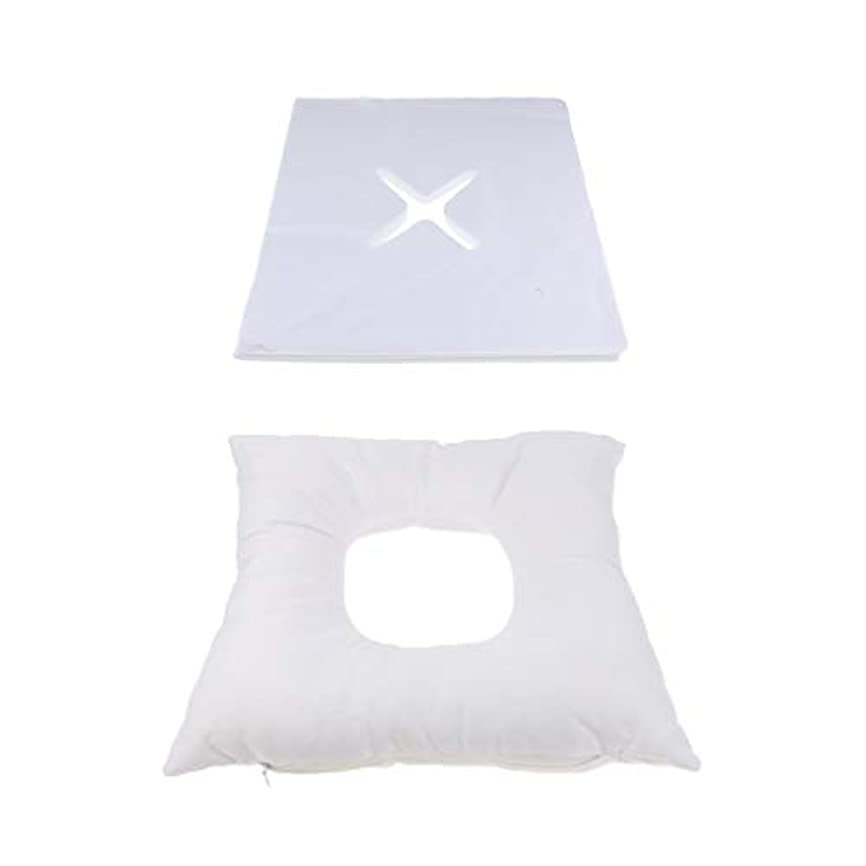 Baoblaze フェイスマット マッサージ枕 顔枕 エステマクラ 200個使い捨てピローカバー付き サロン 家庭用