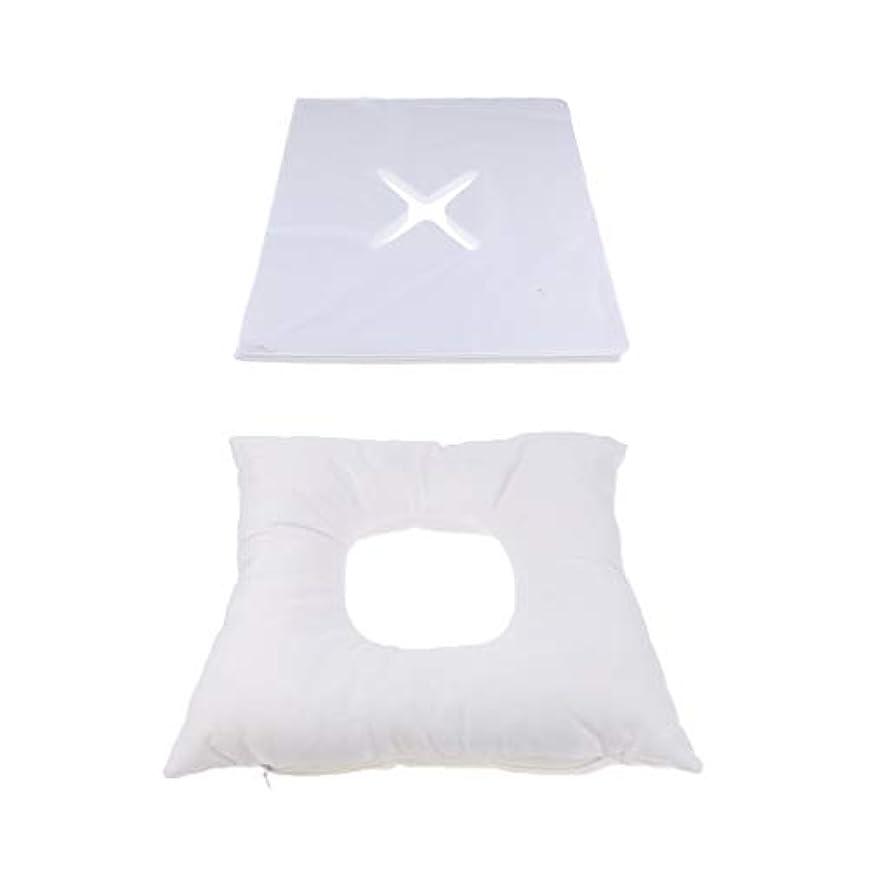 パレード提出する赤ちゃんフェイスマット マッサージ枕 顔枕 エステマクラ 200個使い捨てピローカバー付き サロン 家庭用