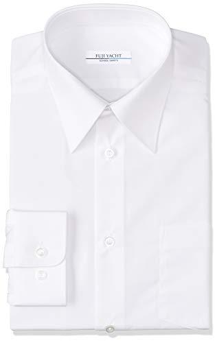 [富士ヨット学生服] TSOW100L 長袖スクールシャツ オフホワイト 消臭機能付き ボーイズ