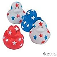 Mini Patriotic Stars Rubber Ducks [並行輸入品]