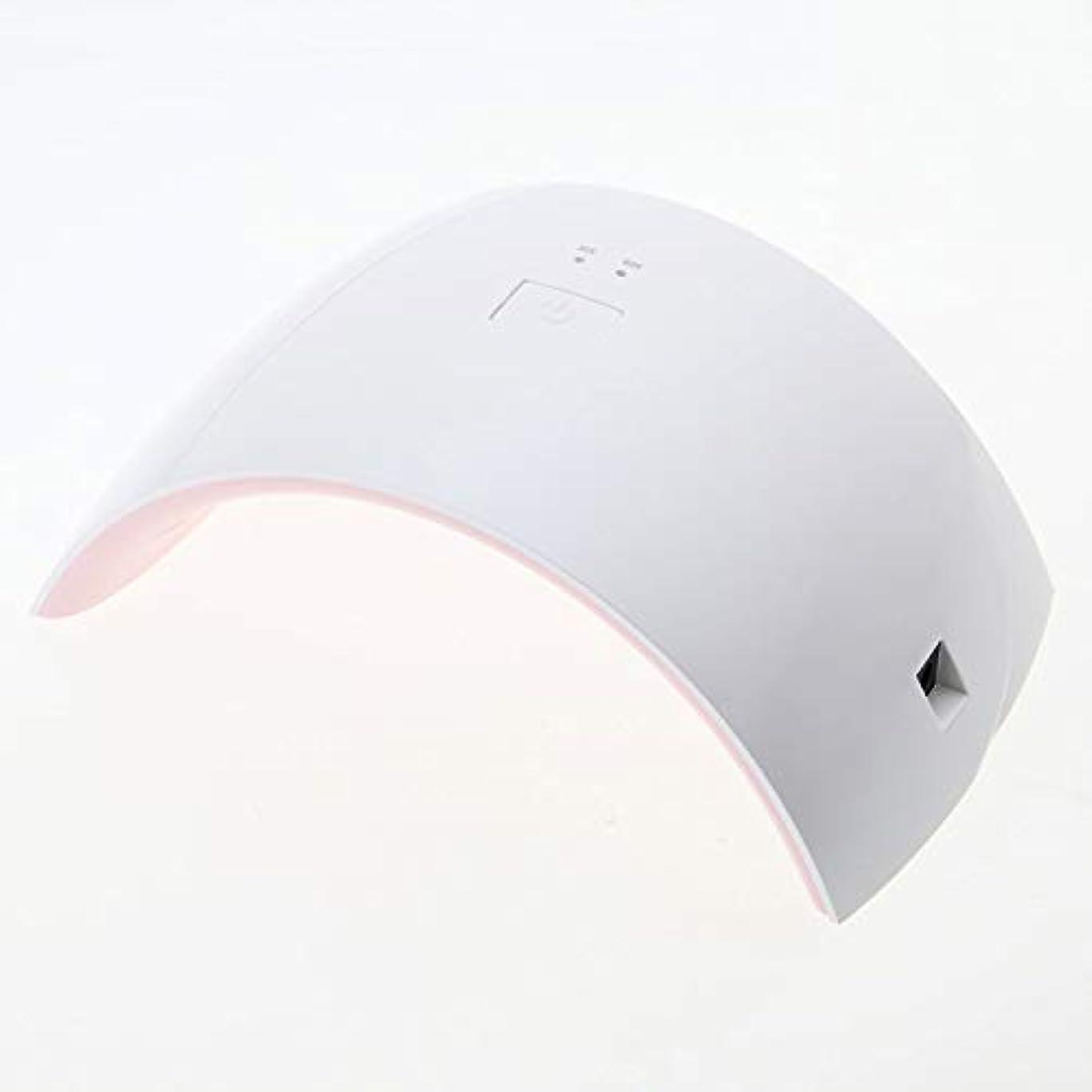 顎フラグラントクレーン30/60秒タイマーとスマートセンサー付きジェルネイルドライヤー用24W LED UVネイルライト
