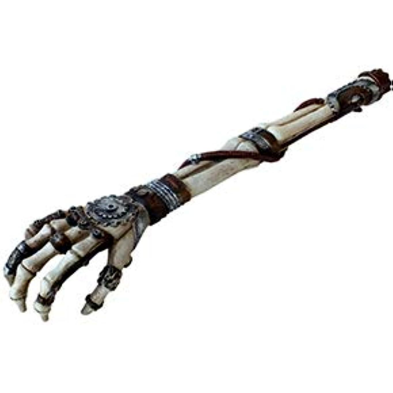 輝度アーティキュレーション波紋スチームパンクスケルトンアーム バックスクラッチャー(孫の手) Steampunk Skeleton arm back scratcher