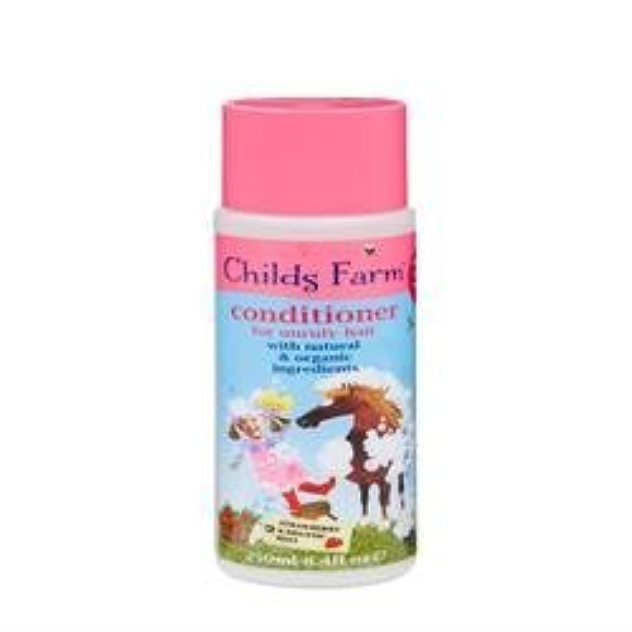 不機嫌そうなびん自発的Conditioner for Unruly Hair (250ml) x 6 Pack by Childs Farm [並行輸入品]