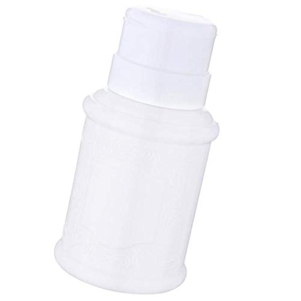司書豆腐リーズSM SunniMix 空ポンプ ボトル ネイルクリーナーボトル ポンプディスペンサー ジェルクリーナー 全3色 - 白