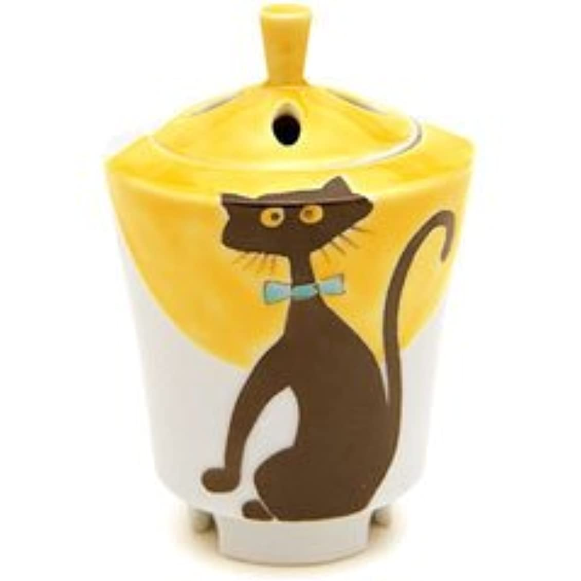 アデレード呼吸あざ香炉 流麗 黒猫 【日本香堂】