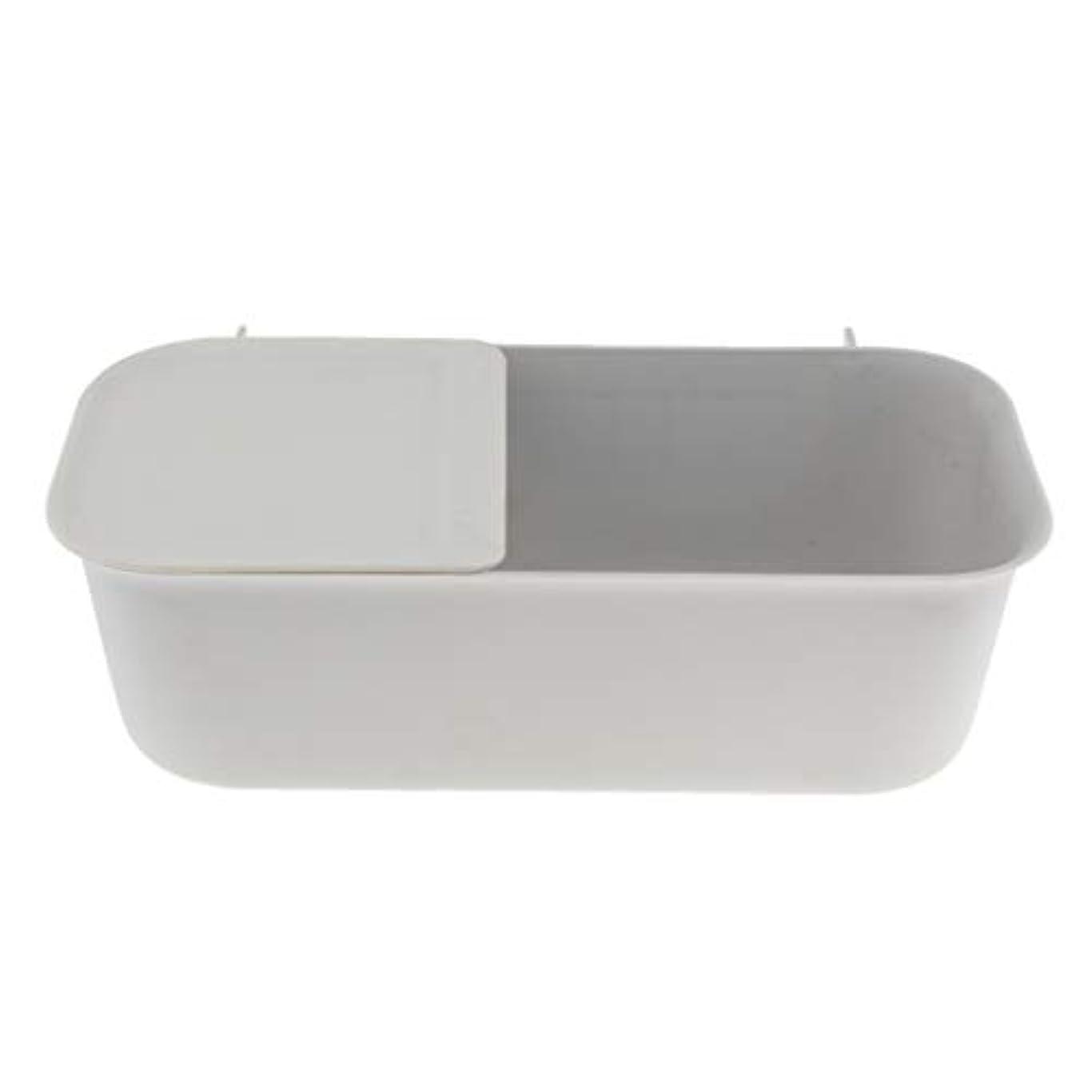 排除人種変更可能Perfeclan バスルーム ストレージラック 壁取り付け式 フリー パンチ 収納ラック 4色選べ - グレー