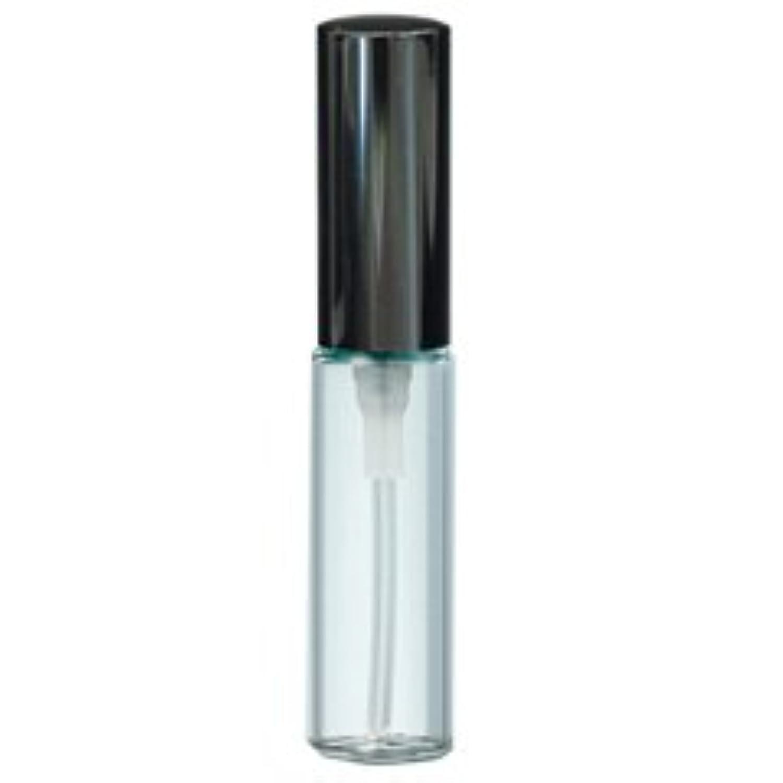 【ヤマダアトマイザー】グラスアトマイザー プラスチックポンプ 無地 50250 クリアビン アルミキャップ ブラック 4ml