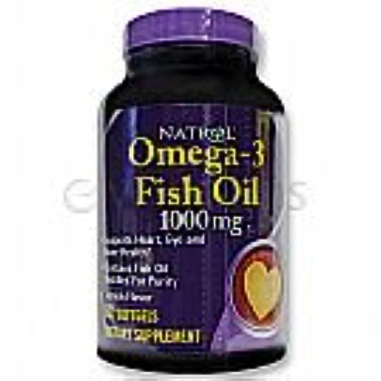 不一致マーチャンダイザー仕事Natrol Omega-3 Fish Oil 1,000 mg 60 Softgels Lemon [並行輸入品]