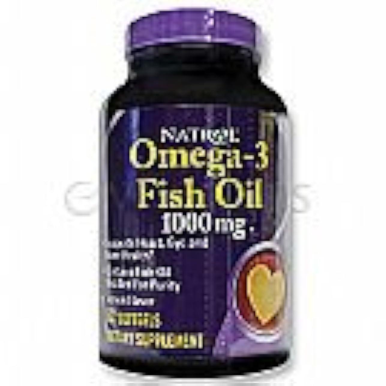 特権劣る傀儡Natrol Omega-3 Fish Oil 1,000 mg 60 Softgels Lemon [並行輸入品]