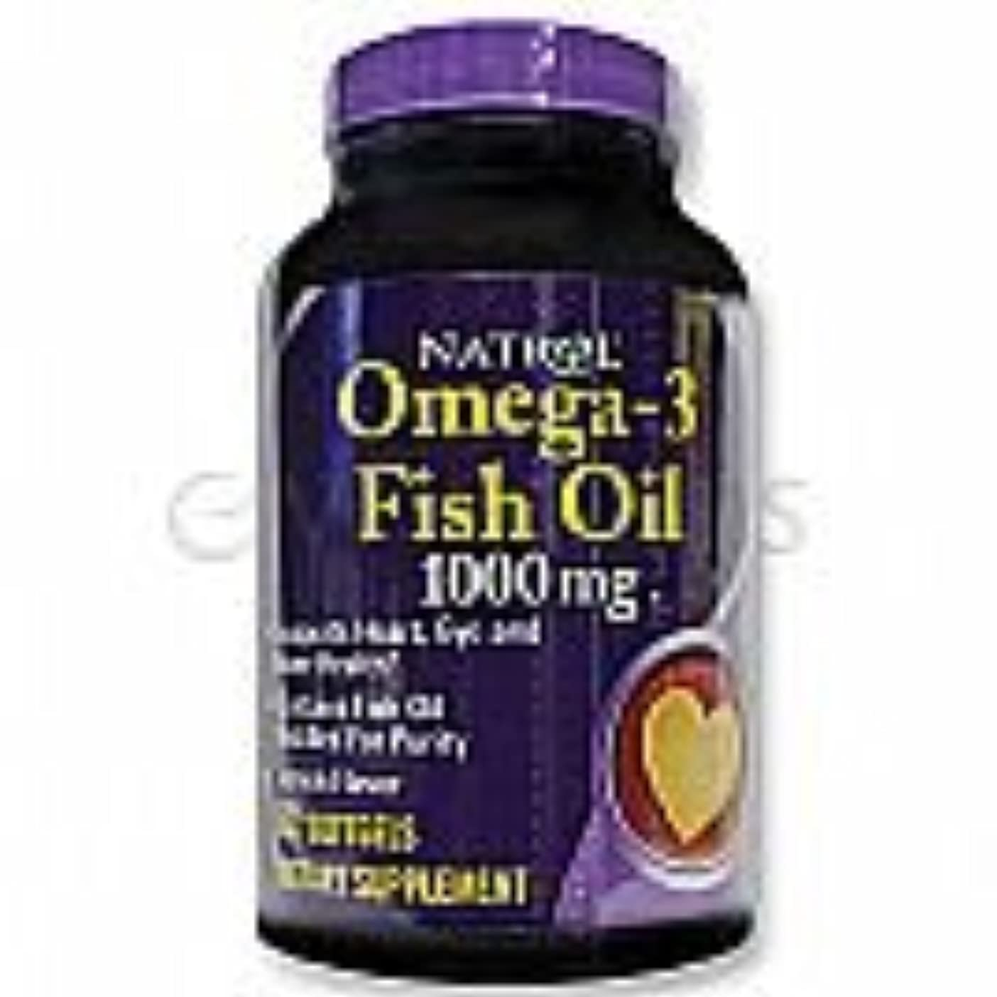 機械耳連続的Natrol Omega-3 Fish Oil 1,000 mg 60 Softgels Lemon [並行輸入品]