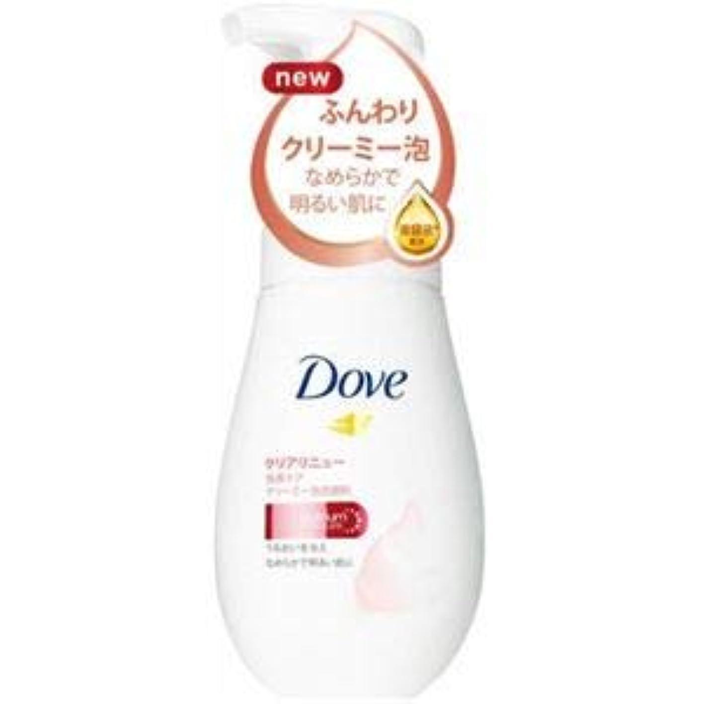 オゾン地震とんでもない(まとめ)ユニリーバ Dove(ダヴ) ダヴクリアリニュークリーミー泡洗顔料 【×3点セット】