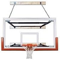最初チームsupermount68 Victory steel-glass壁マウントバスケットボールsystem44 ;ゴールド