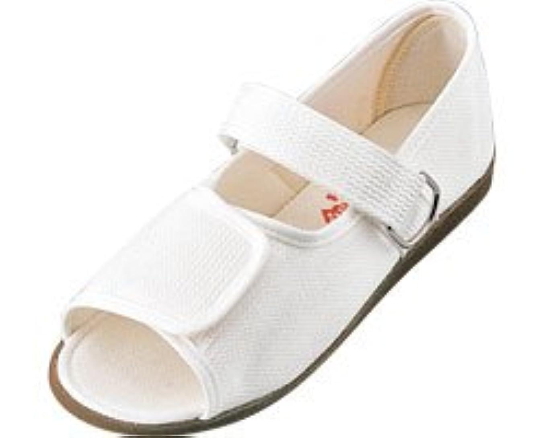 眠るクラッシュ拮抗するリハビリシューズ 両足 婦人用 24.0cm 白 W503 (マリアンヌ製靴) (シューズ)(返品不可)